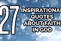 Inspirational Quotes About Faith In GOD
