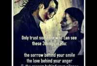 Joker quotes on loveall should watch and understand