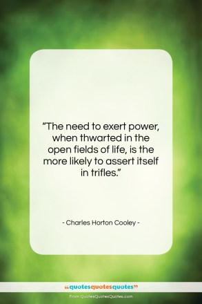 "Charles Horton Cooley quote: ""The need to exert power, when thwarted…""- at QuotesQuotesQuotes.com"