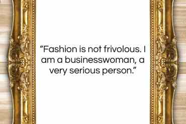 "Donatella Versace quote: ""Fashion is not frivolous. I am a…""- at QuotesQuotesQuotes.com"