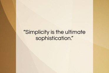 "Leonardo da Vinci quote: ""Simplicity is the ultimate sophistication….""- at QuotesQuotesQuotes.com"