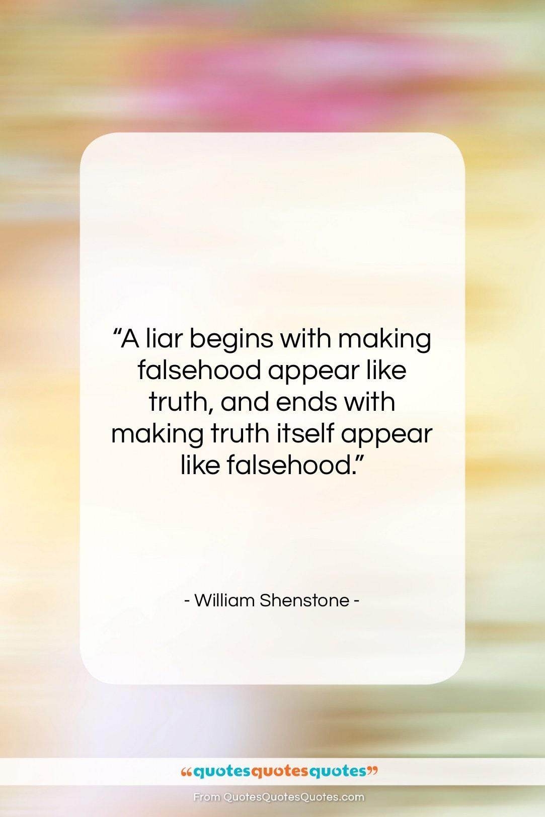 Get the whole William Shenstone quote: \