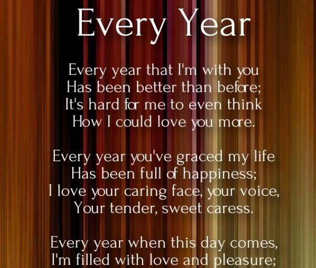 Short Anniversary Poems For Husband