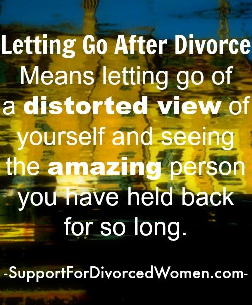 Divorce and moving on