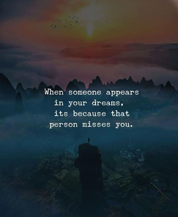 inspirational positive quotes when someone appears in your dreams
