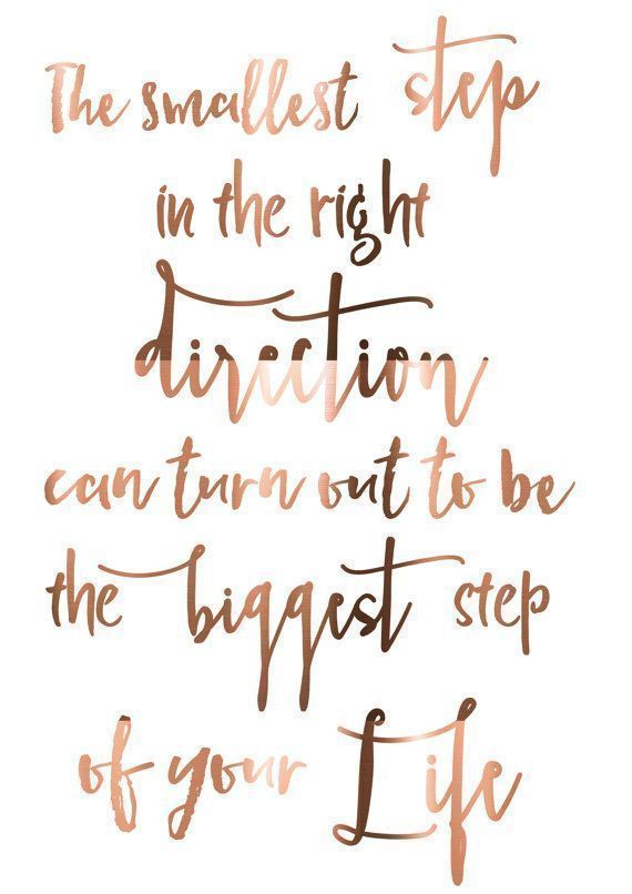 Inspirational life quote written in rose gold | Cute Quotes ...