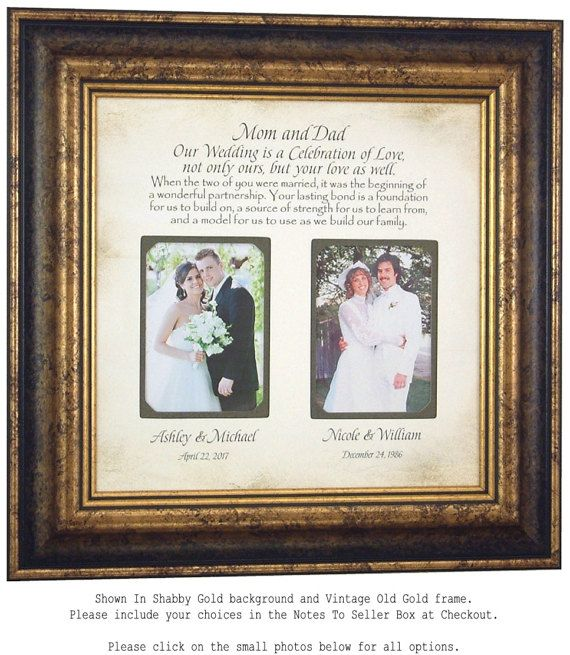 Wedding Quotes :Personalized Picture Frame Parents Wedding Gift ...
