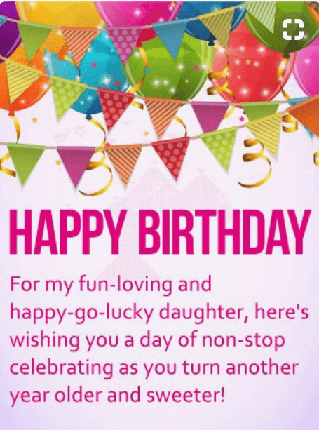 Birthday Quotes Happy Daughter Wishes My