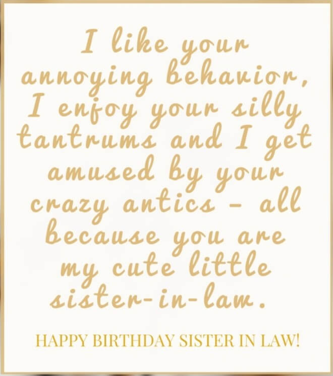 40 Happy Birthday Wishes For Sister In Law Funny Images