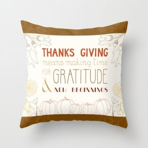 Thanksgiving quote pillow