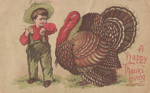 vintage happy thanksgiving art print
