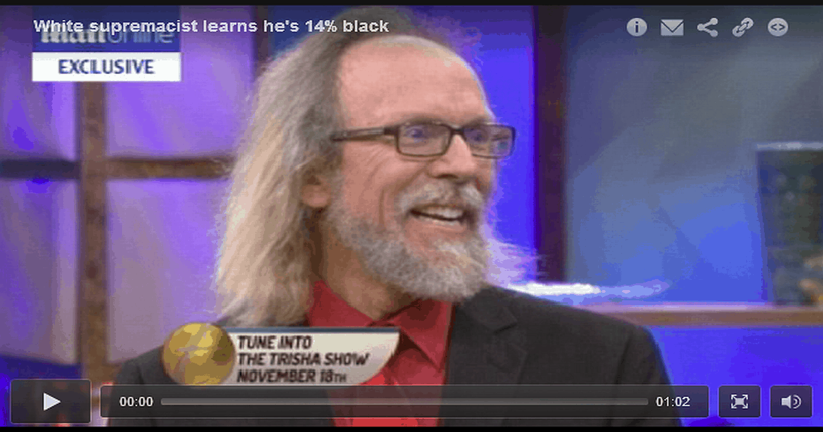 That Time a White Supremacist Found out He Was 14 Percent Sub-Saharan African (VIDEO)