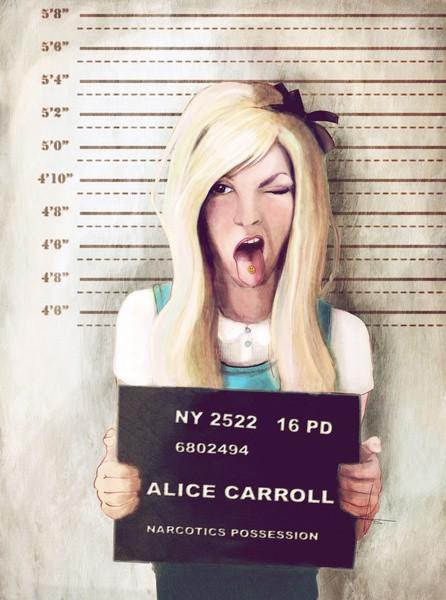 Alice in Wonderland Mugshot