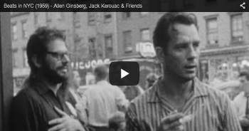 kerouac ginsberg rare video