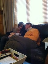 Estella, Carrie, and Uncle Brad