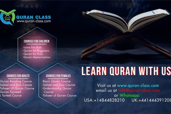 Learn Quran online with us!