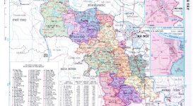 Bản đồ tỉnh Hà Tây cũ trước năm 2008