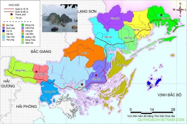 Bản đồ vị trí huyện Hải Hà Quảng Ninh