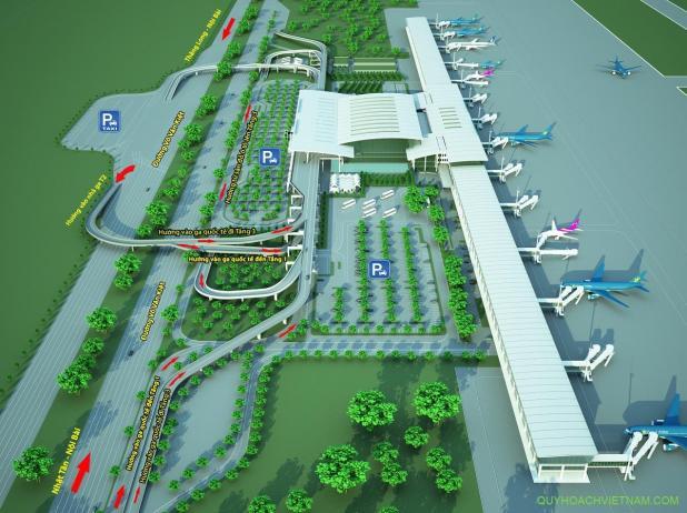 Lối vào nhà ga quốc tế T2 sân bay Nội Bài