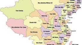 Bản đồ các tỉnh Trung Quốc mới nhất hiện nay