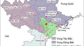 Bản đồ đồng bằng Sông Hồng