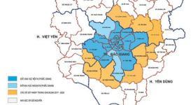 Bản đồ thành phố Bắc Giang mới nhất 2020