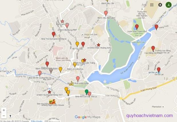 Bản đồ thành phố Đà Lạt