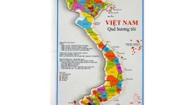Bộ bản đồ Việt Nam lắp ghép bằng gỗ dành cho trẻ em