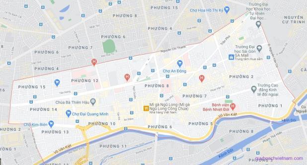 Bản đồ quận 5 Sài Gòn