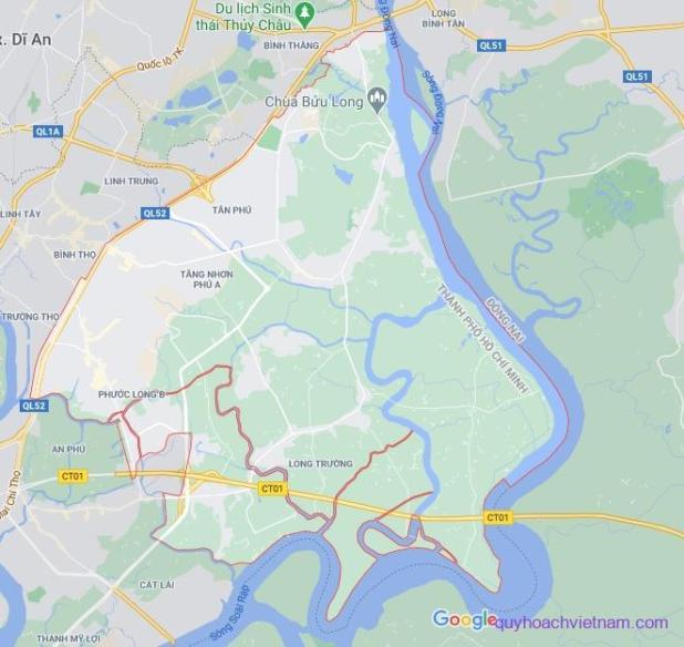 Bản đồ quận 9 Sài Gòn