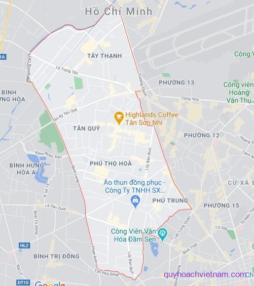 Bản đồ quận Tân Phú Sài Gòn
