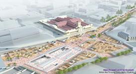Hình ảnh phối cảnh tuyến ga Metro số 1 trung tâm Bến Thành