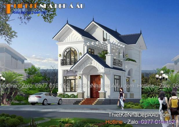 Thiết kế nhà 2 tầng 80m2