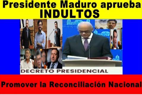Maduro ofrece indulto a diputados opositores