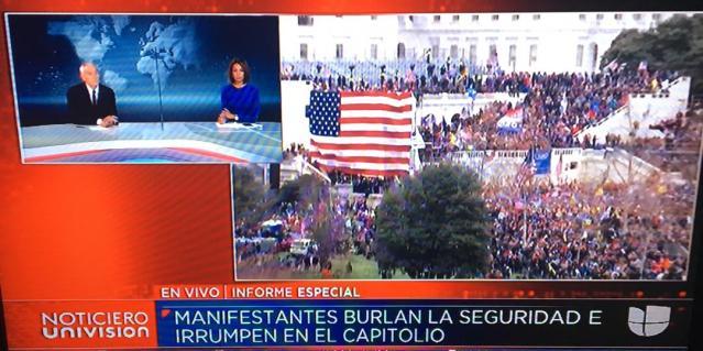 Disturbios en el Capitolio de Estados Unidos interrumpen la certificación de victoria de Biden, la OEA rechaza estos sucesos