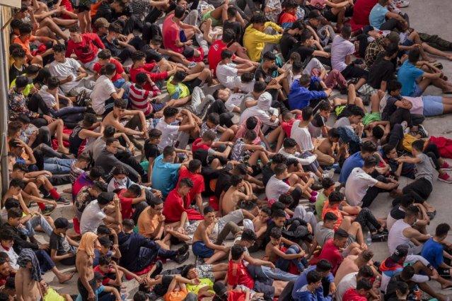 Empeora crisis migratoria en Ceuta, España