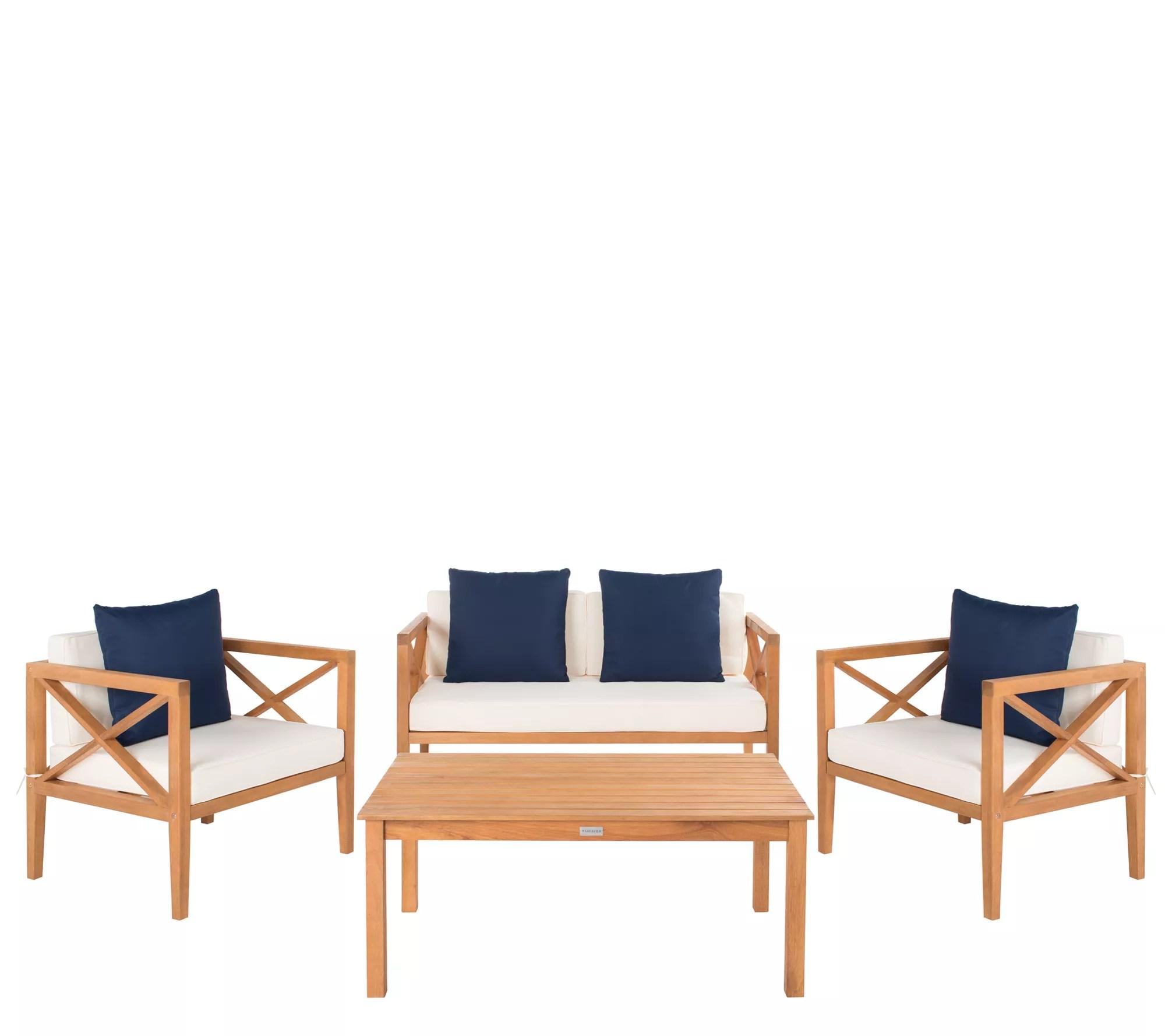 nunzio 4 piece outdoor patio set w