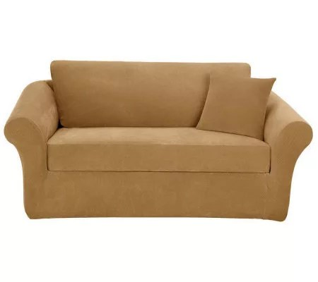 sure fit stretch pique 3 piece sofa