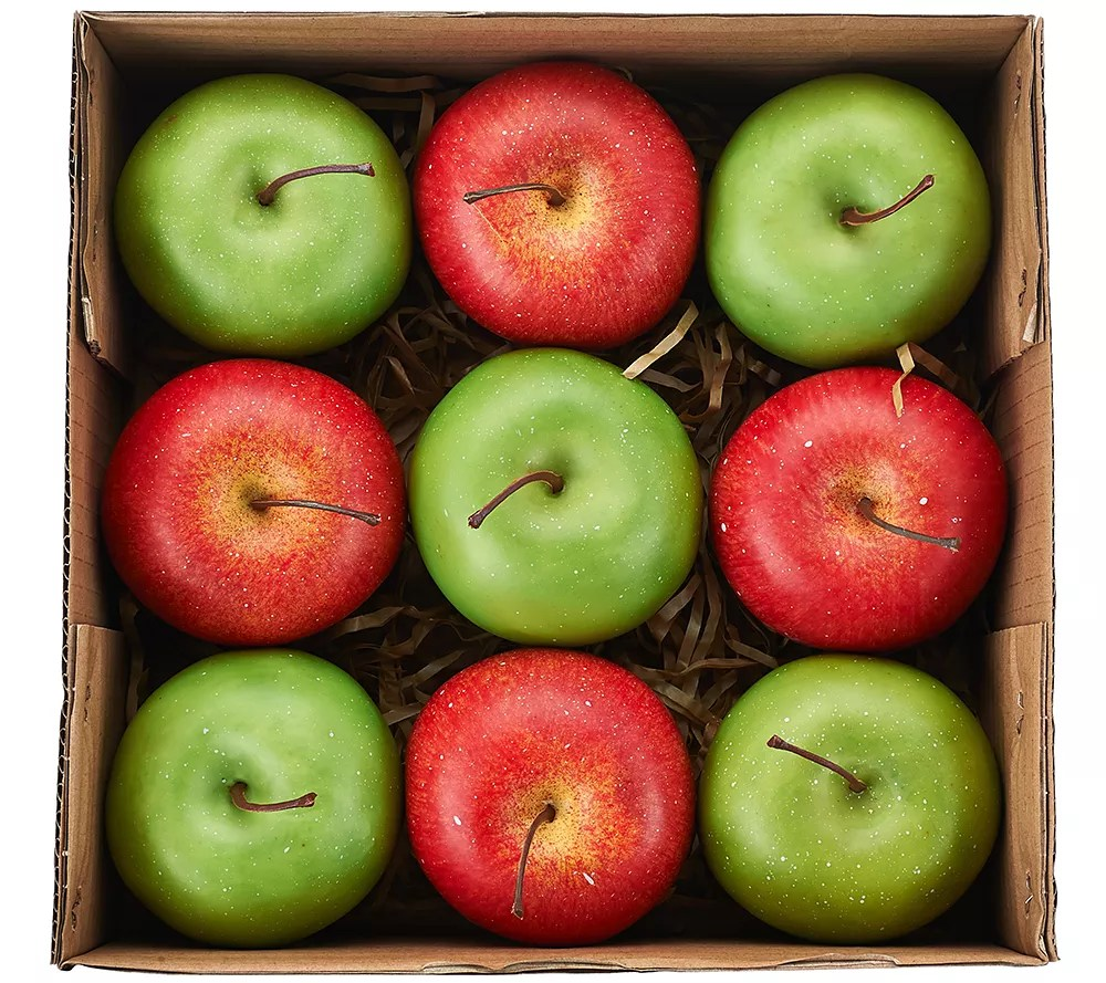 Set Of 9 Decorative Apples Or Pears By Valerie Page 1