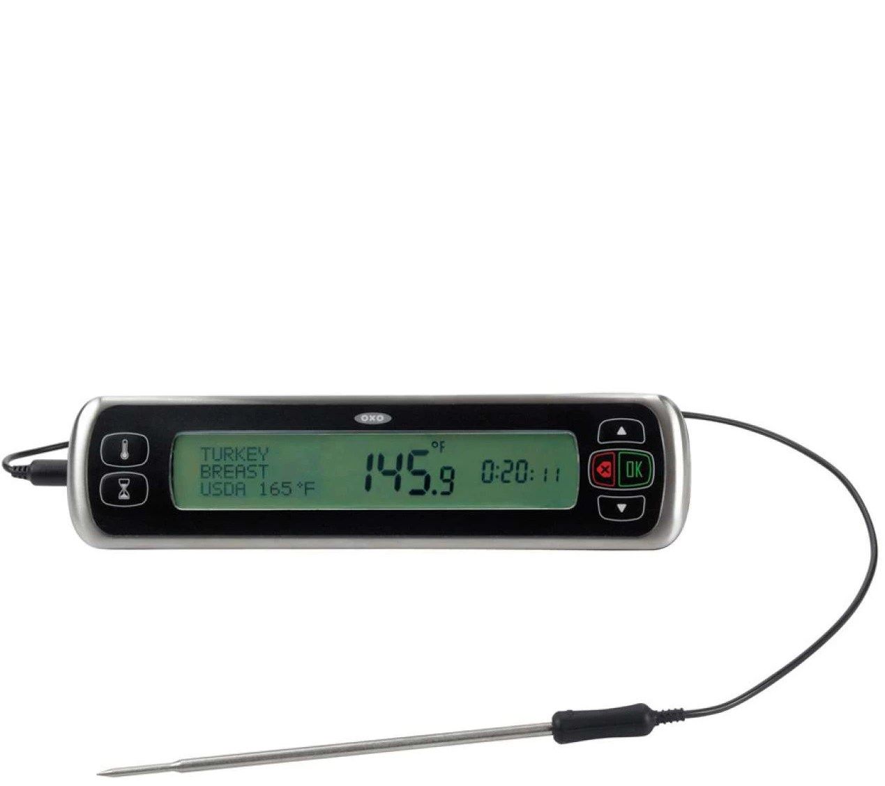 A digital ear thermometer is probably one of the fastest ways to get the temperature of a person. OXO Good Grips Chef's Digital Leave-in Meat Thermometer ...