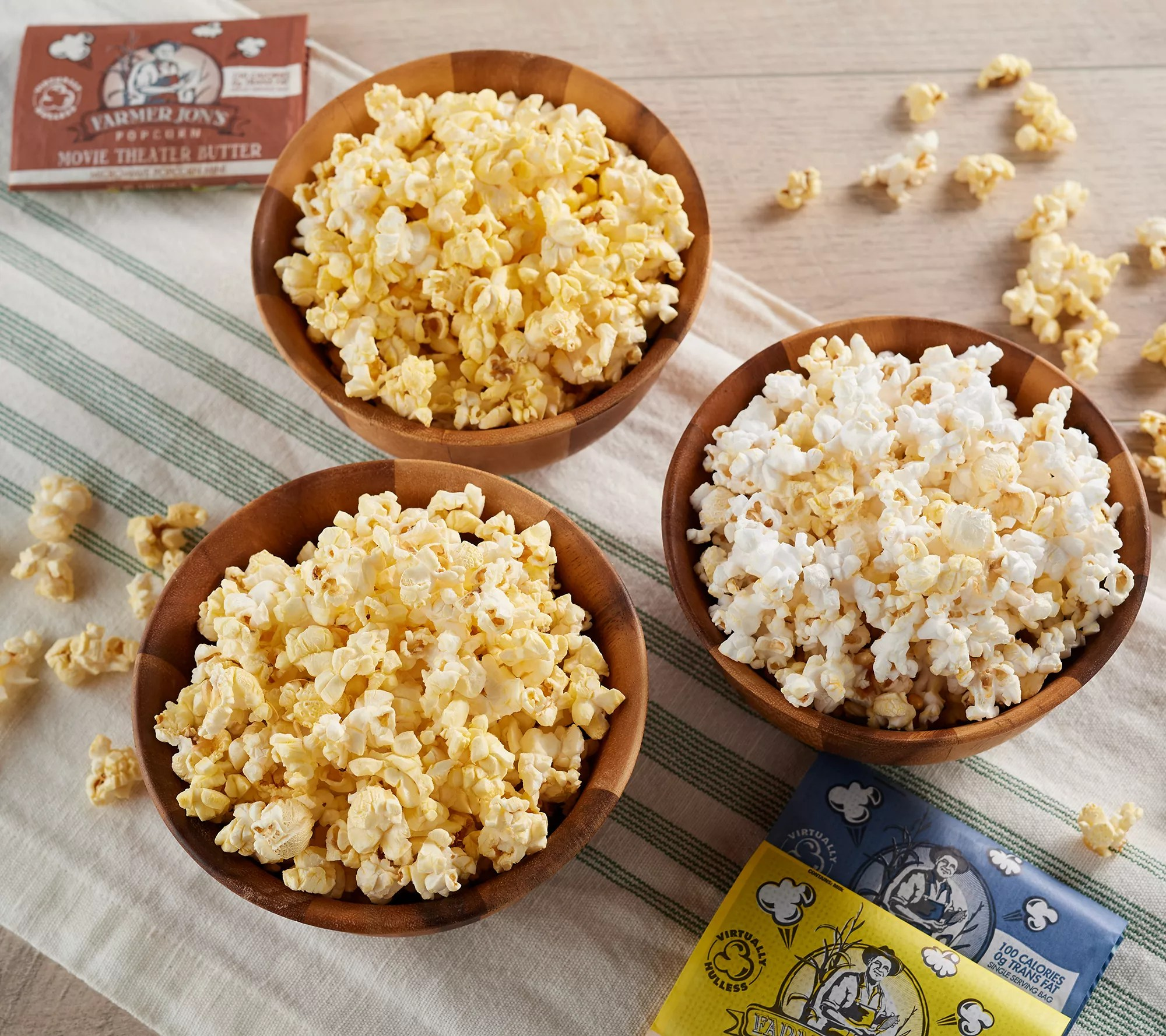 farmer jon s popcorn 18 mini microwave popcorn bags auto delivery qvc com