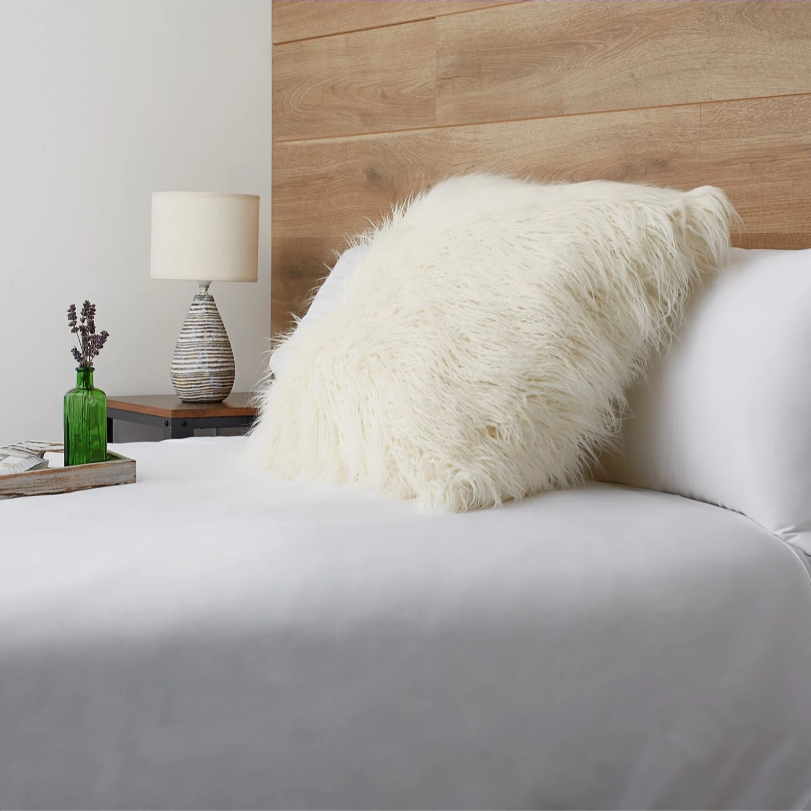 cozee home extra large fluffy cushion qvc uk