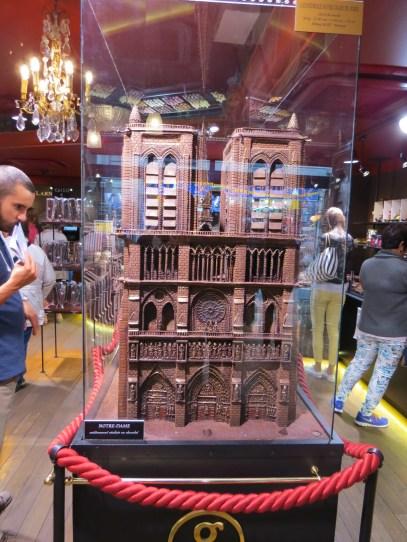Notre Dame en chocolate