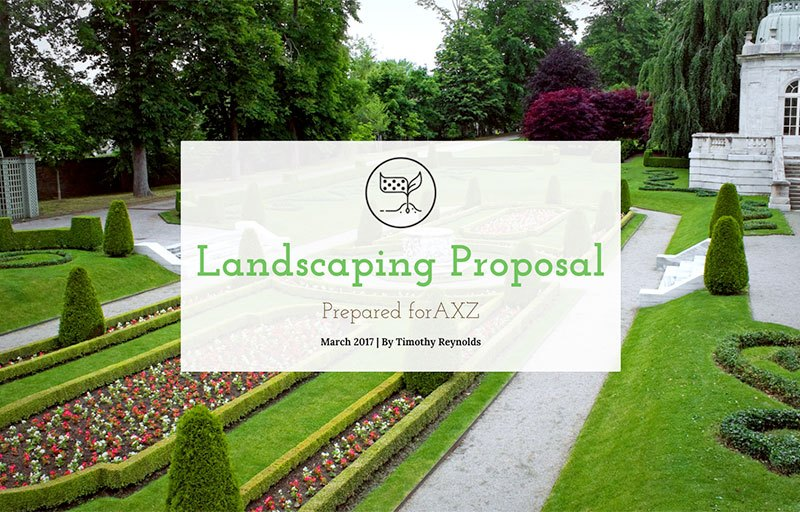 Landscaping Proposal Template