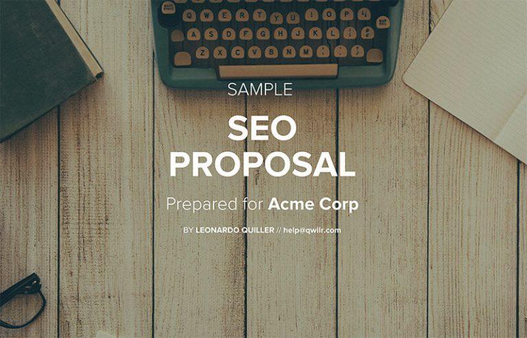 SEO Proposal Template
