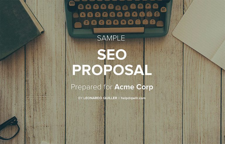 Seo Proposal Template  Qwilr