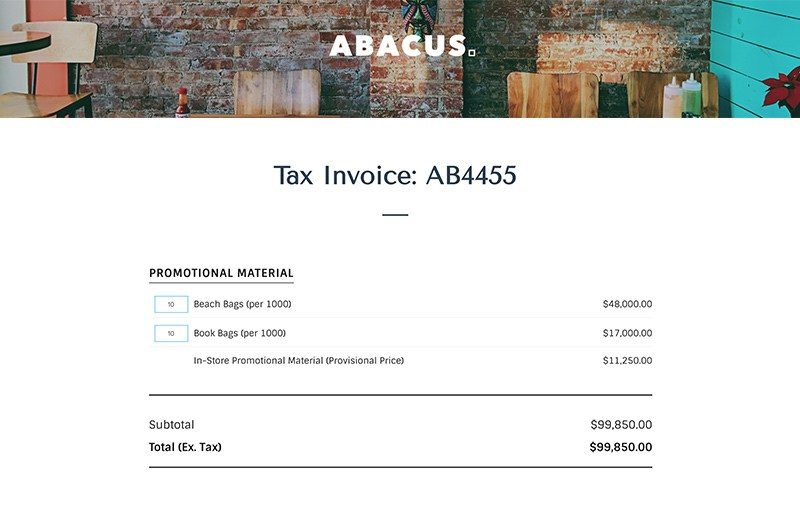 Marketing Invoice Template