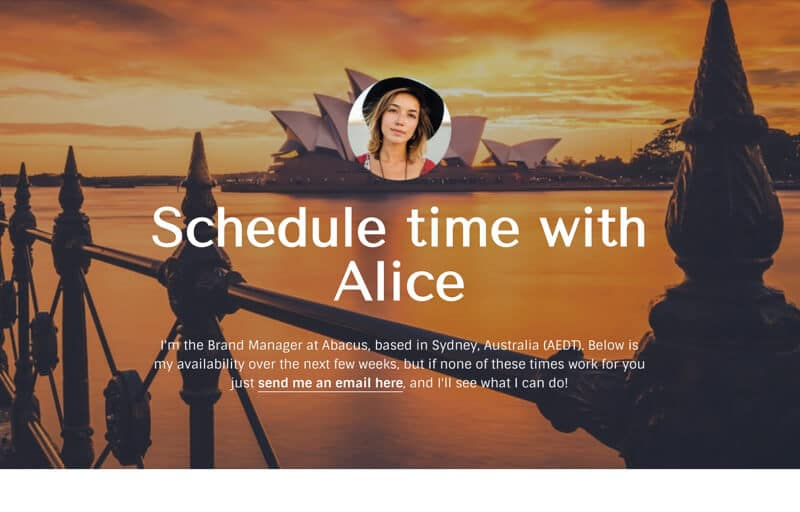 Calendly Meeting Schedule Template