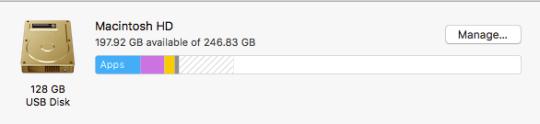 Extra storage space on my Mac.