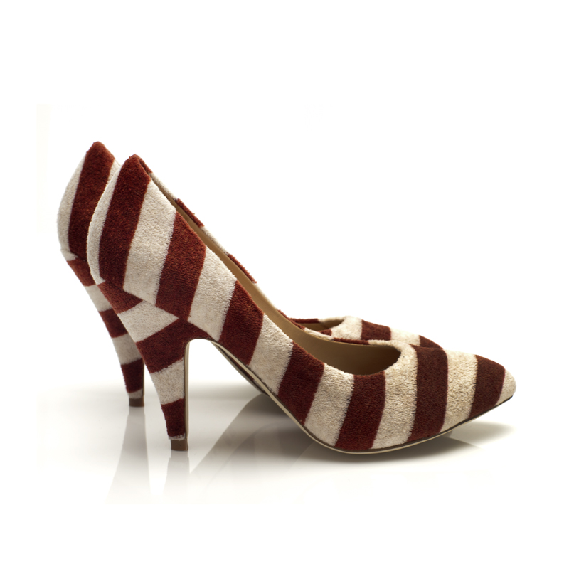 J575 Red Striped Terry Side